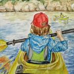 Marilee Van Nice, Kayaking on Whale Cove