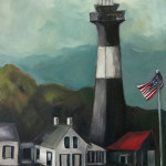 Penelope Patrick, As the Storm Begins (Tybee Island Lighthouse)