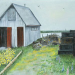 Priscilla Squire, Herring Shed with Buoys and Traps